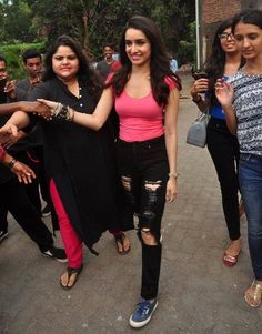 Shraddha Kapoor on the set of Baaghi. #Bollywood #Fashion #Style #Beauty #Sexy #Hot