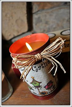 My Country Blog of This and That: Tin Can Crafts