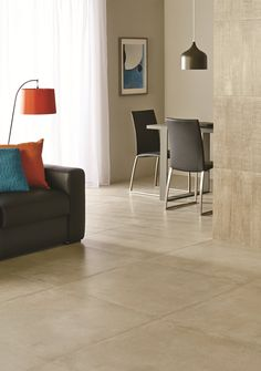 These Concretissyma Concrete lookalike porcelain tiles look great on walls and floors, adding an industrial vibe. Available from Designworks Tiles. designworkstiles.com