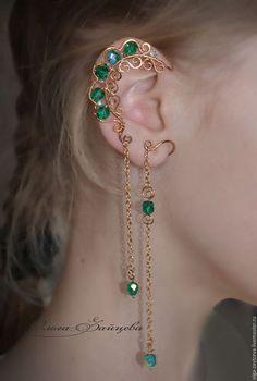 Ear Jewelry, Cute Jewelry, Jewelery, Jewelry Accessories, Fashion Accessories, Fashion Jewelry, Jewelry Design, Jewelry Making, Unique Jewelry