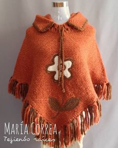 Poncho natural i m thinking grannie squares along the shoulder instead of white knits – Artofit Poncho Knitting Patterns, Afghan Crochet Patterns, Knitted Poncho, Loom Patterns, Loom Knitting, Crochet Stitches, Wool Embroidery, Loom Weaving, Free Pattern