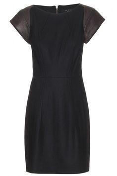 Rag & Bone Sackville Wool and Leather Sheath Dress