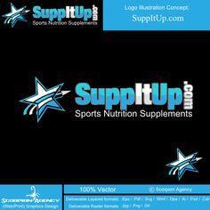 SuppItUp  |  Featured Logo Design  |  logobids.com  |  #logo #design