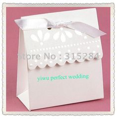 wedding favor bags - cut top into pattern with Martha Stewart cutters