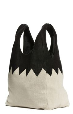 zig zag shopper bag – Hansel from Basel Textiles, Bag Patterns To Sew, Sewing Patterns, Jute Bags, Unique Bags, How To Make Clothes, Shopper Tote, Goodie Bags, Small Bags