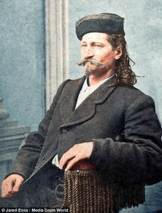 Legendary gunslinger Wild Bill Hickock, pictured between 1868 and 1870