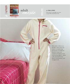 ADULT ONESIE - Media - Sew Daily