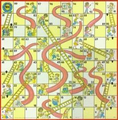 The classic Chutes and Ladders game is a great way to help preschoolers learn basic mathematics concepts such as number recognition and counting