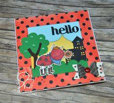Noelia Iglesias Gonzalez:  El Scrap de Cris y Noe:  Hello Ladybug! - 10/11/16.  (Pin#1: 2 Cute digis.  Pin+: Insects Fly).