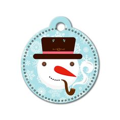 Snowman Holiday Dog Tag #holidays #dogtagsfordogs #pettags #dogaccessories #dogfashion #dogs #pets #etsy #etsyfinds #christmas #snowman