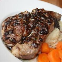 Lamb chops with balsamic reduction. Serve over couscous. Best Lamb Chop Recipe, Lamb Chop Recipes, Meat Recipes, Paleo Recipes, Baby Led Weaning, Balsamic Reduction Recipe, Chicken Broth Recipes, How To Cook Lamb, Lamb Chops