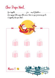 Lettre Père Noël PDF Christmas Mood, Christmas Projects, Words, Montessori, Nail Art, Printables, Letter To Santa Template, Christmas Is Coming, Letter Templates