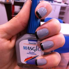 FAMOSA + NEGRO #MASGLO Nail Arts, Love Nails, Nail Polish, Make Up, Drink, Nail Ideas, Beauty, Random, Food