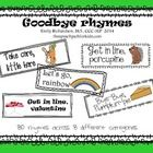 Fun rhymes for kids to say as they leave the room.  Target reading, rhyming, articulation, vocabulary, and social skills.  Total of 80 cards.   Eig...