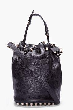 Alexander wang. Black Studded Diego Bucket Bag. Looooveeeee!!!