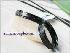 cincin couple titanium hitam