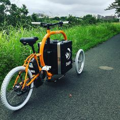8Uラックケースを改造したボックスを載せて河川敷で走行テスト走行フィーリングは極めてスムーズそして凄い注目度#dagastroke #cargobike #カーゴバイク #電動アシスト自転車 #ebike