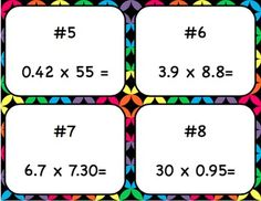 Multiplying Decimals Bingo by To the Square Inch- Kate Bing Coners | Teachers Pay Teachers