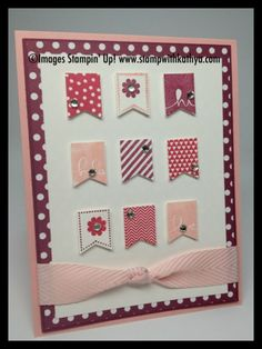 Stampin Up Banner Blast - Rich Razzleberry, Rose Red, Blushing Bride