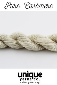 Undyed softest cashmere wool for truly luxurious knitting!