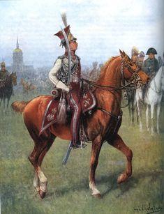 (1812 as colonel major Dominick Radziwiłł)Officer of 1er régiment de chevau-légers lanciers polonais de la Garde impériale_1 Cavalry Regiment-Lansiers of Imperial Guard, actually 1 Light Cavalry Regiment (Polish) Imperial Guard, (1er régiment de chevau-légers lanciers polonais de la Garde impériale),division of Polish enforcers from Napoleonic era under command of Wincenty Krasiński, existing 1807-15.