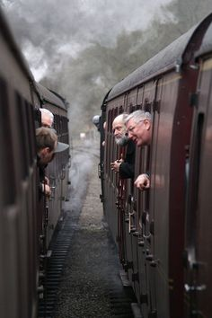 'Inter train communication', at Churnet Valley Railway steam gala, 2008. Photo copyright of Alan Crawshaw.