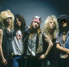 Axl Rose will be joined by Slash, Izzy Stradlin, Duff McKagan and Steven Adler for the ceremony along with later members Gilby Clarke, Matt Sorum and Reed. Description from metaltalk.net. I searched for this on bing.com/images