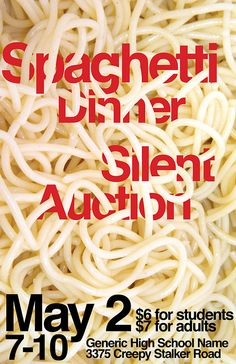 Spaghetti Dinner Poster by ▲NDREW, via Flickr