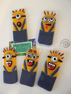 Minion Fused Glass Ornament by chneos on Etsy