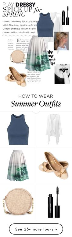 """""""The Please Bring Summer Back Outfit"""" by nerdyari on Polyvore featuring J.TOMSON, Chicwish, Topshop, Neiman Marcus, Bobbi Brown Cosmetics, women's clothing, women, female, woman and misses"""