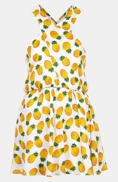 Flirty + fun: Topshop Pineapple print sun dress
