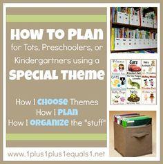 Planning for homeschool using themes {tots, preschool, kindergarten}