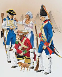 Metropolitan Troops, Louisiana & Florida, 1770s-80s • First sergeant, fusilier company, Toledo Regiment  • Private, fusilier company, Hibernia Regiment  • Grenadier, Rey Regiment