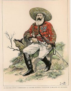 Colonel Dupont, commandant of the Contre Guerilla Francaise in Mexico during the Mexican Adventure 1868
