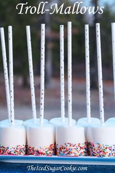 Trolls Mallows -Trolls Birthday Party Food Idea-Trolls Snacks Treats