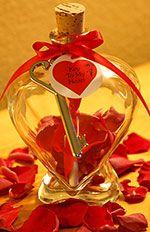 Romantic Message in a Keepsake Bottle