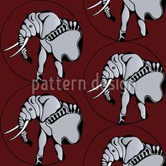 Elefanten Schönheit - Nahtloses handgezeichnetes Elefanten-Muster ist ab sofort auch über patterndesigns.com erhältlich.   Das Stoffdesign ist sowohl in Größe als auch farblich anpassbar.