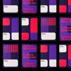 Culture Montréal Identity and Branding - via Mindsparkle Mag - Brand Development Event Branding, Museum Branding, Corporate Identity, Corporate Design, Brand Identity Design, Visual Identity, Logo Design, Tech Branding, Identity Branding