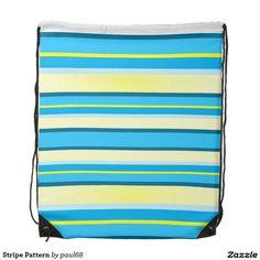 Stripe Pattern Drawstring Backpack