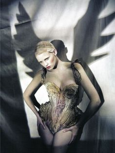 """The Great Illusion"" | Model: Lara Stone, Photographer: Paolo Roversi, Vogue Italia, March 2010"