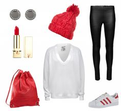 #Herbstoutfit Red Zone ♥ #outfit #Damenoutfit #outfitdestages #dresslove