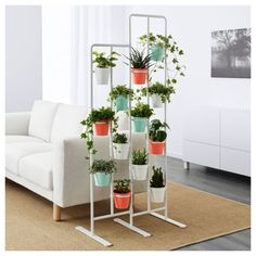 IKEA - SOCKER, Plant stand, A plant stand makes it possible to decorate with plants everywhere in the home.The plant stand can be used to display plants indoors or outdoors on a balcony or as a unique room divider. Modern Plant Stand, Diy Plant Stand, Plant Stands, Metal Plant Stand, Indoor Garden, Indoor Plants, Indoor Outdoor, Balcony Gardening, Ikea Socker