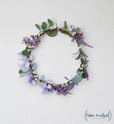 Flower Crown Purple Flower Crown Boho Wedding Boho Floral