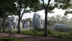 Netherlands: Stone-shaped 3D-printed rental homes planned. #Architecture.