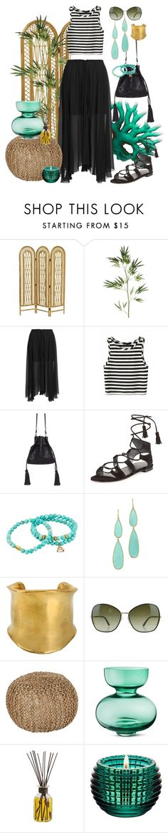 """summer look"" by sonitsa ❤ liked on Polyvore featuring Pier 1 Imports, Étoile Isabel Marant, Stuart Weitzman, Dee Berkley, Ippolita, Emilio Pucci, Tom Ford, Surya, Georg Jensen and Baccarat"