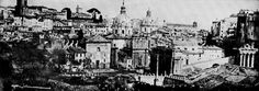 View of Rome from Castel Sant'Angelo Vintage Photographs, Saint, Paris Skyline, Architecture, Travel, Ancient Rome, Romans, Alps, Blue Prints