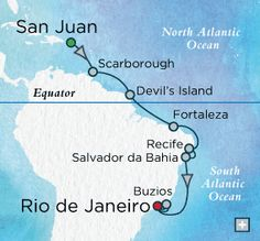 Brazilian Holiday Map.  A December 2015 chance to cross the equator.