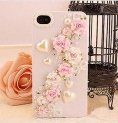 Beautiful Polymer clay Rose Bloom deco kit diy phone case diy deco kit iphone case kit iphone case deco kit iphone 4 4s 5 sumsung phone case