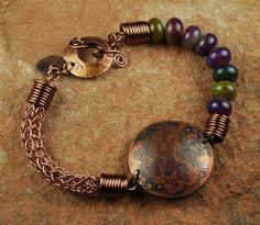 Metal Butterfly Bracelet Viking Knit Bracelet by ccjewelrydesign, $48.00