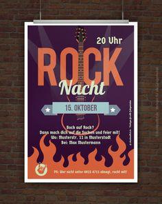 Rockmusik, etwas zu trinken und diese Einladung – mehr brauchst du eigentlich nicht, um mit deinen Freunden eine Rockparty zu feiern.